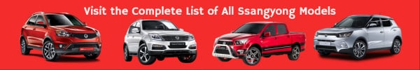 Complete List of All Ssangyong Car Models