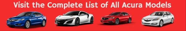 Acura car models list