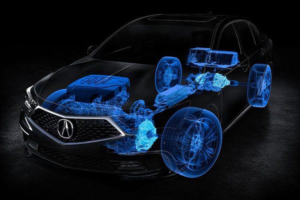 acura features modal sport hybrid l