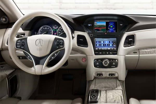 acura rlx car model interior