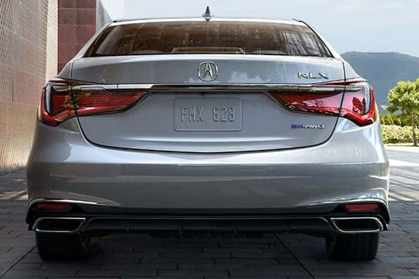 acura rlx car model rear view