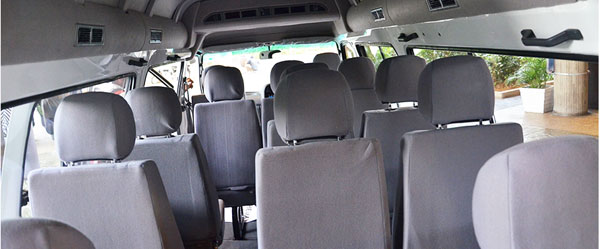 A View on the Foton View Traveller 18 Seater Interior