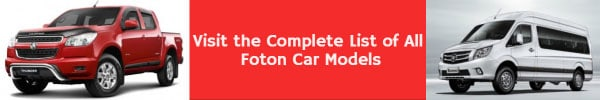 Complete List of All Foton Car Models