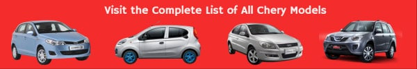 All Chery Car Models List
