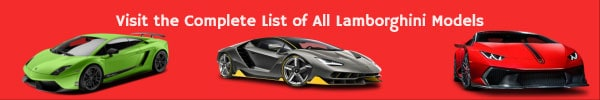 Complete List of All Lamborghini Car Models
