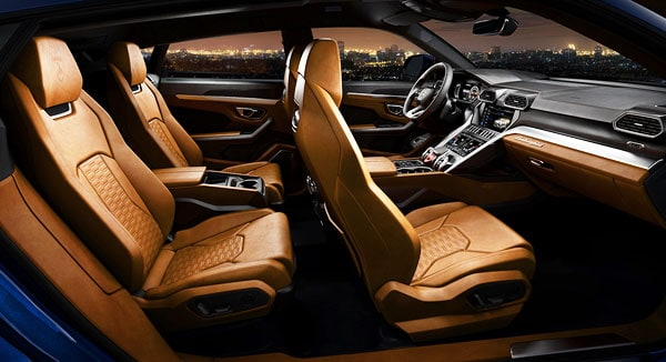 Lamborghini Urus Car Model Interior