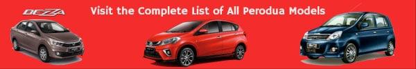 List of All Perodua Car Models