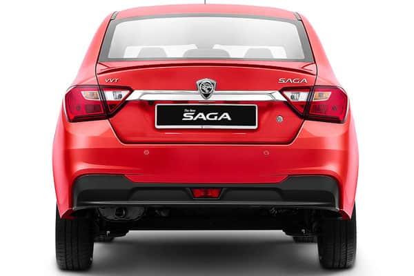 proton saga car model rear