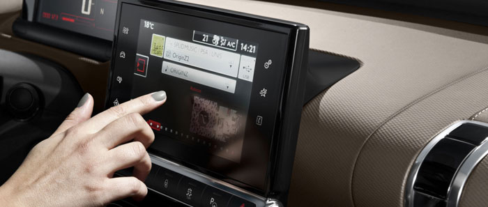 citroen c4 cactus touch and drive interface